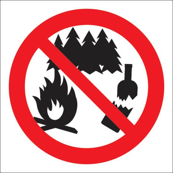знак не оставлять мусор в лесу